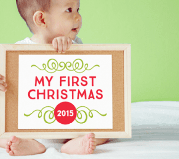 Create memorable and professional looking photos with these free printable Baby's First Holiday Signs! Designs for Thanksgiving, Christmas and Hanukkah 2015 are included in this free download, plus an exclusive coupon code for an entire 2016 holiday set. From Elegance and Enchantment for Remodelaholic.