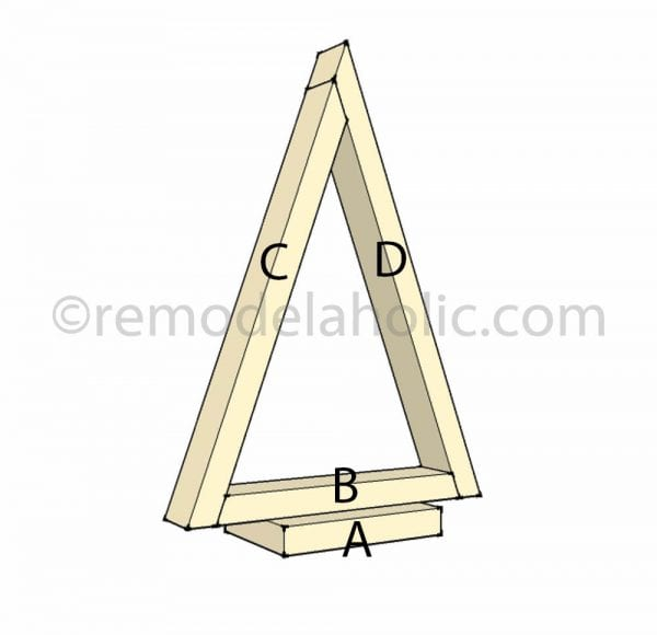 Christmas Decor Triangle Tree labled