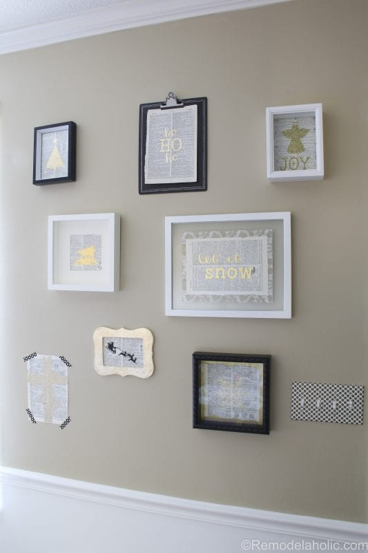 Christmas gallery wall @remodelaholic (1 of 10)