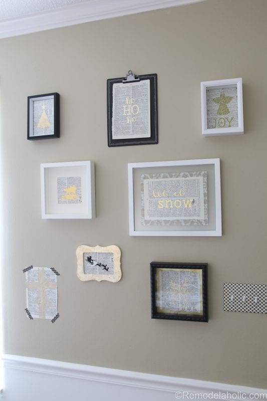 Christmas gallery wall @remodelaholic (8 of 10)