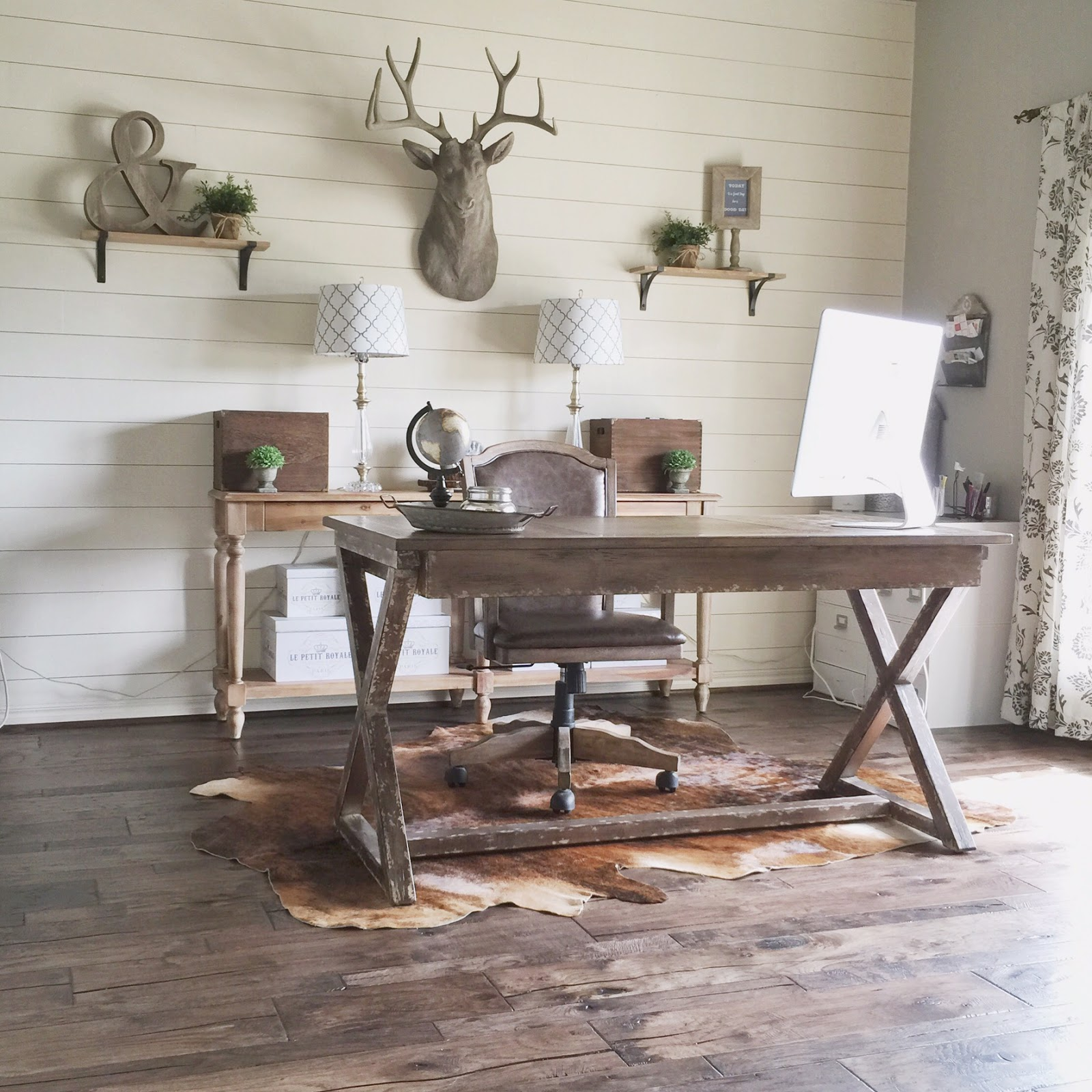 Diy Home Design Ideas Com: Rustic Modern Home Office Design