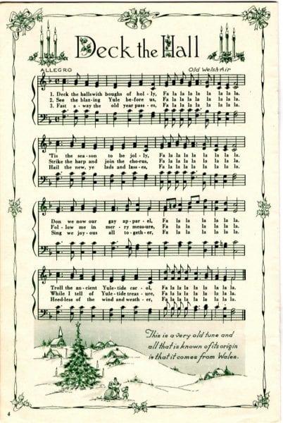 Divine image regarding free printable vintage christmas sheet music