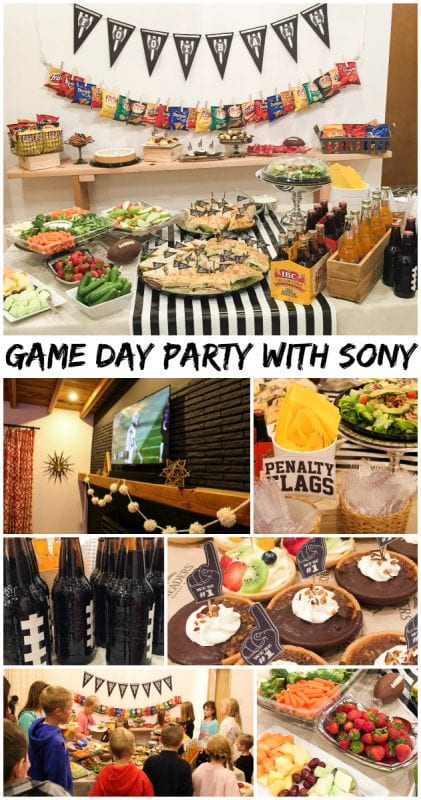 Game Day party with Sony
