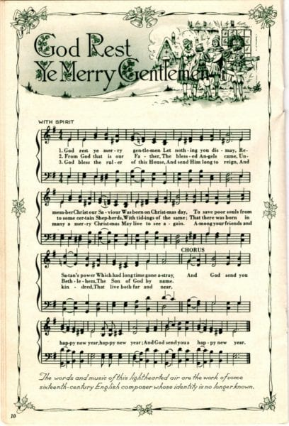 Ridiculous image in printable christmas sheet music