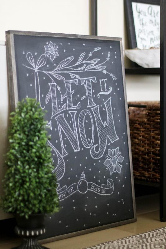 How to make a framed Chalkboard - Finished Project1