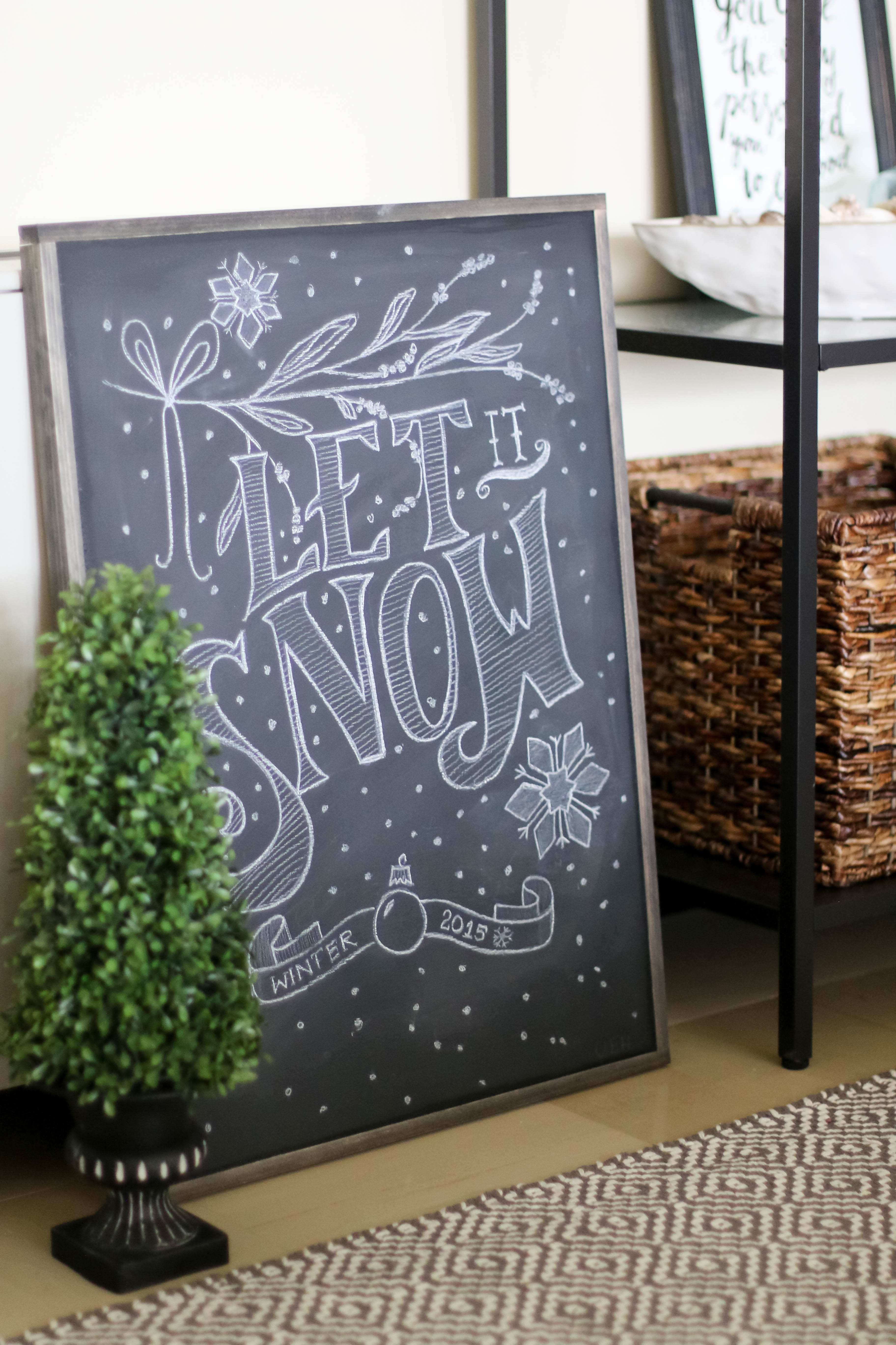 How to make a framed Chalkboard (6 of 6)