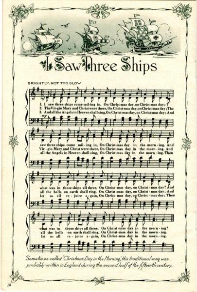 Divine image inside printable christmas sheet music