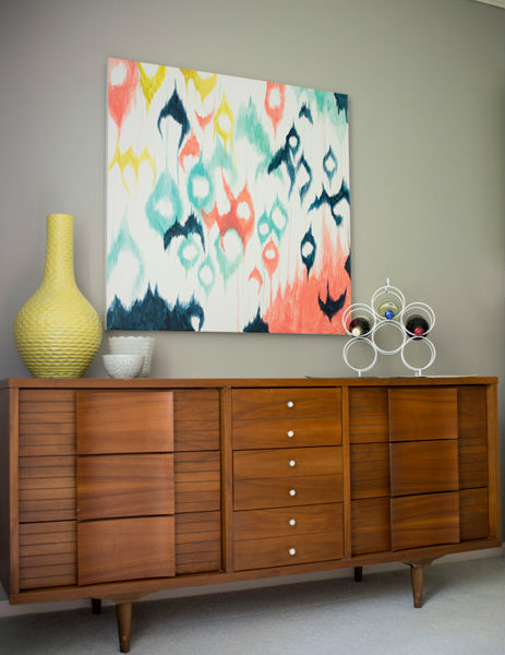 DIY Ikat Painting, So Colorful!
