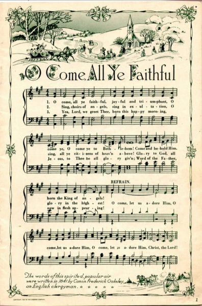 Divine image in free printable vintage christmas sheet music