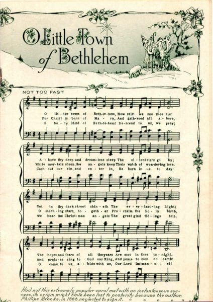 Unforgettable image for printable christmas sheet music