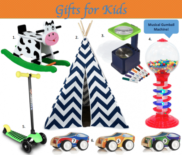 Great gifts for kids, that I can buy online and not have to go to the store...