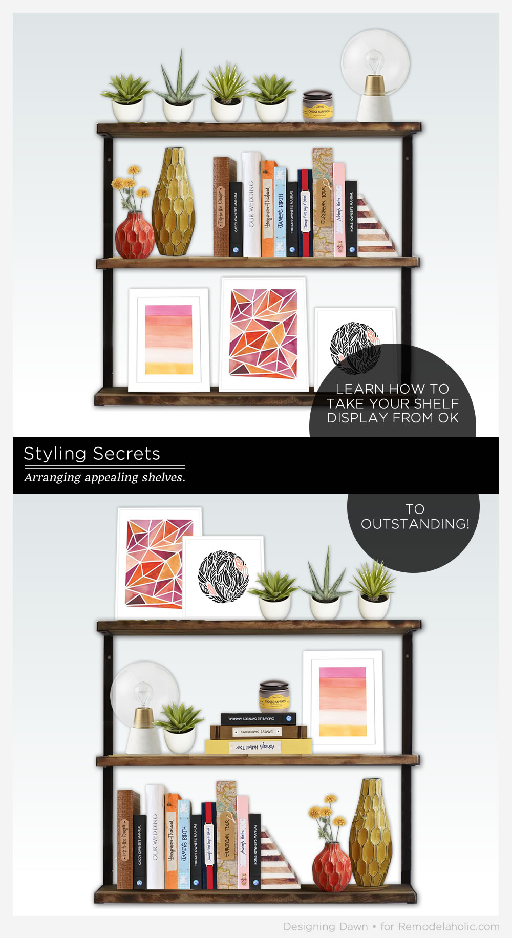 Remodelaholic   Styling Secrets: Decorating Shelves
