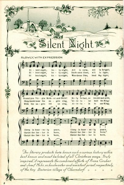 (2) Silent Night via April on flickr. Instructions: After you visit the link, the download button will be in the bottom right hand corner of the image.
