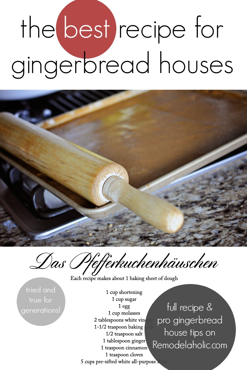 The Best Gingerbread Recipe for Making Gingerbread Houses, plus so many tips from a seasoned gingerbread house pro! @remodelaholic