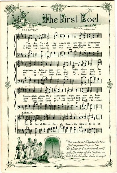 Eloquent image inside printable christmas sheet music