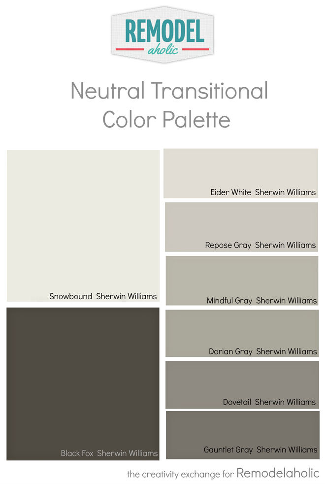 Remodelaholic whole house paint color palette using one for Whole house neutral paint colors
