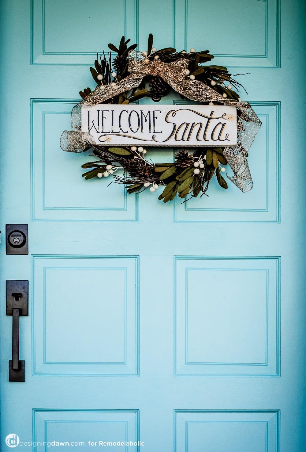 Welcome Santa DIY Sign