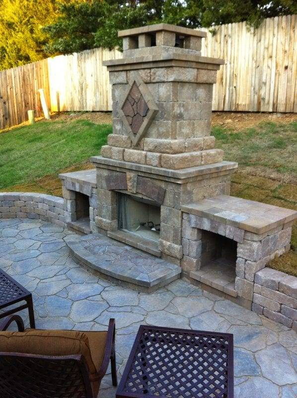 amazing outdoor fireplace JillifyIT