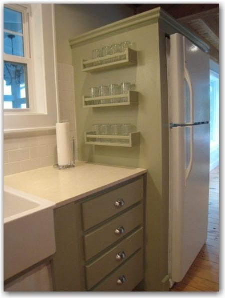 Remodelaholic 25 ways to use ikea bekvam spice racks at home for Ikea fridge cabinet