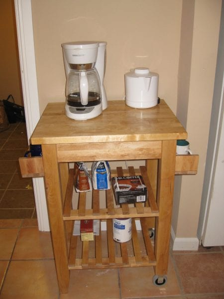bekvam spice rack mugs coffee cart