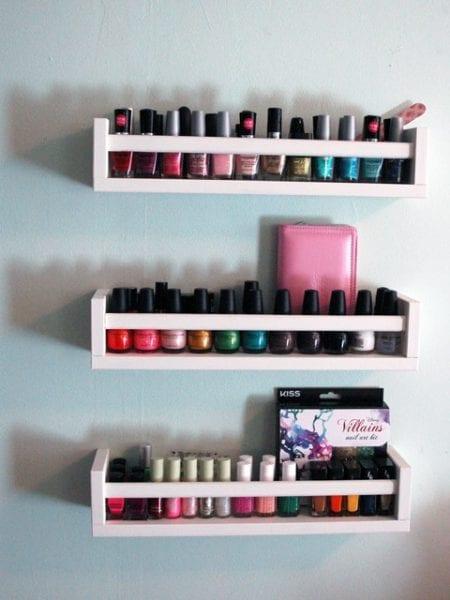 bekvam spice rack nail polish organizer