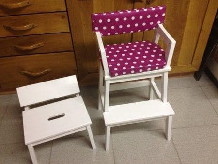 bekvam stool hack, child chair tiny stool