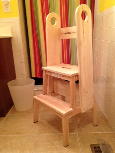 bekvam stool hack safe stool toddler bathroom & Remodelaholic | 12 Ikea Bekvam Step Stool Hacks islam-shia.org