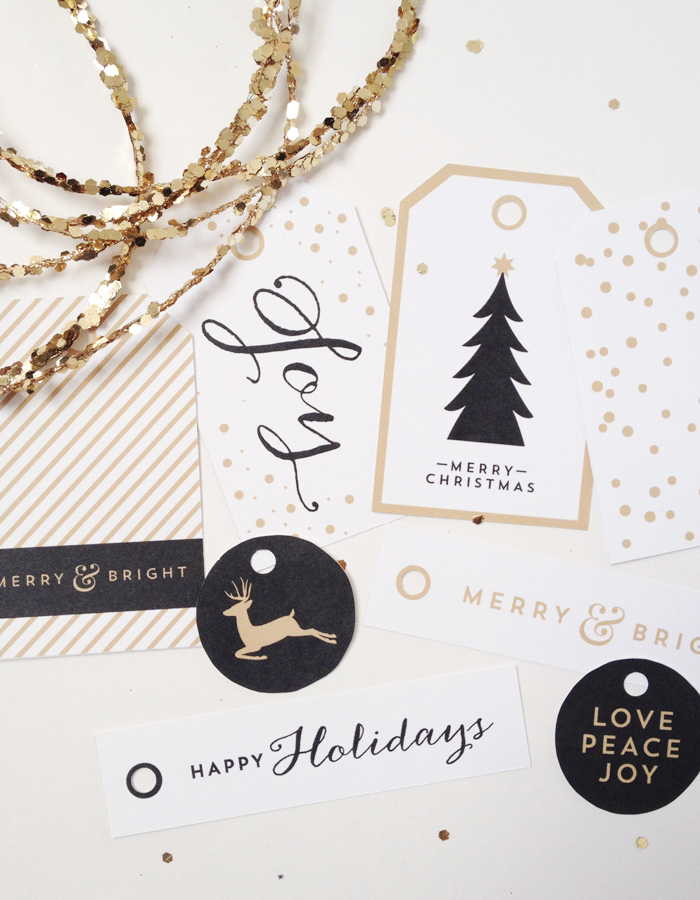 remodelaholic free printable black and gold classy holiday art