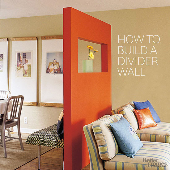 Remodelaholic 29 Creative Diy Room Dividers For Open: room divider wall ideas