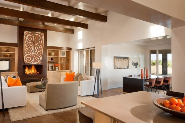 modern southwest living room and dining room | by Violante & Rochford Interiors, photo credit © Wendy McEahern