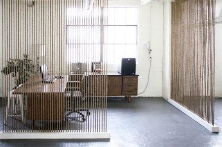 diy room divider rope wall