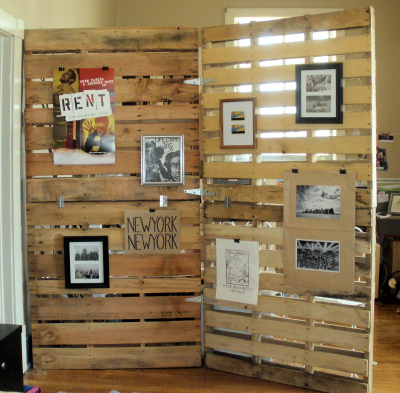 diy room divider wood pallet - Remodelaholic 29 Creative DIY Room Dividers For Open Space Plans