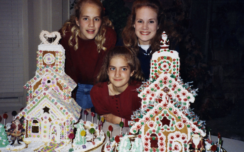 family tradition for gingerbread houses