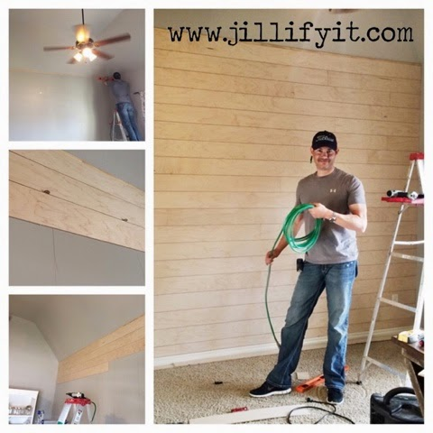 DIY Shiplap Wall And Rustic Home Office Makeover By Jill Of Jillify It!