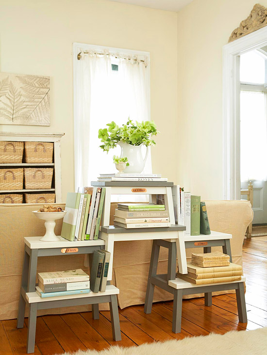 Ikea Bekvam Stool Hack Stacked Bookshelf