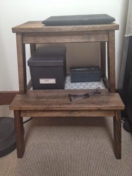 ikea bekvam stool hack, nightstand with storage