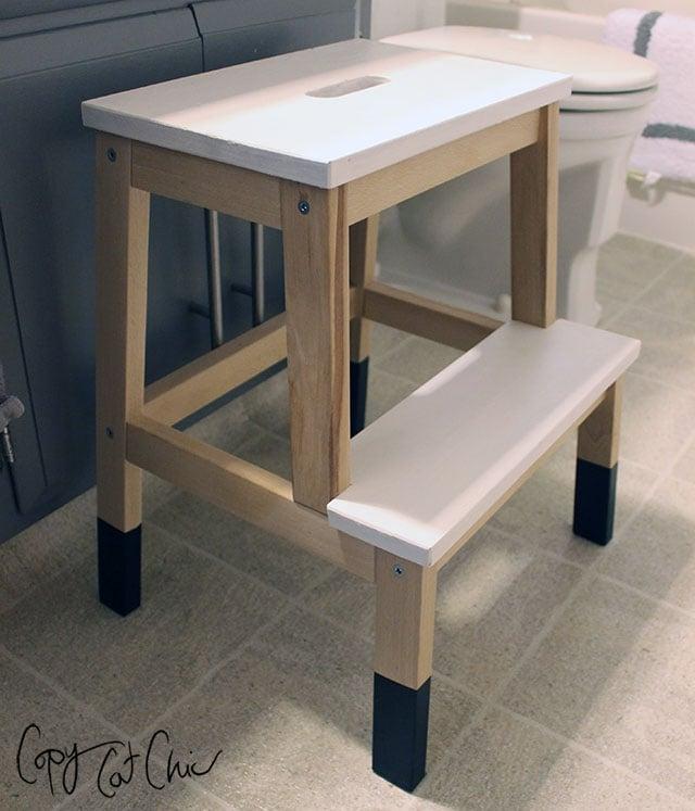 ikea bekvam stool hack no slip legs & Remodelaholic | 12 Ikea Bekvam Step Stool Hacks islam-shia.org
