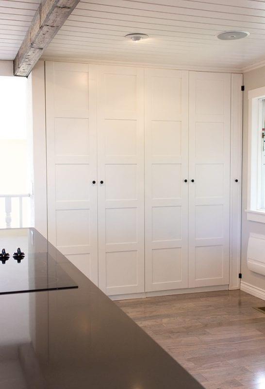 ikea kitchen hack pax wardrobe pantry broom closet