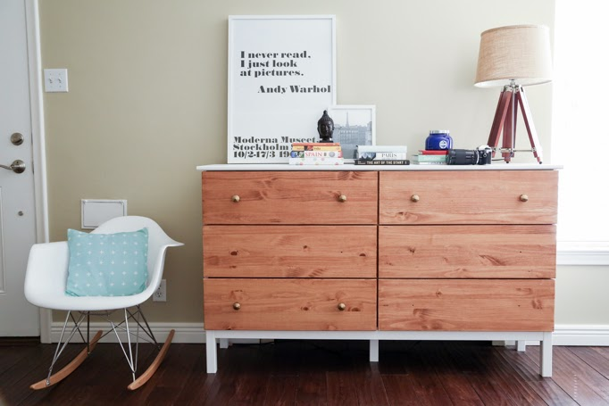 ikea tarva dresser hack. Ikea Tarva Dresser Hack 6-drawer Paint Stain Combo Remodelaholic
