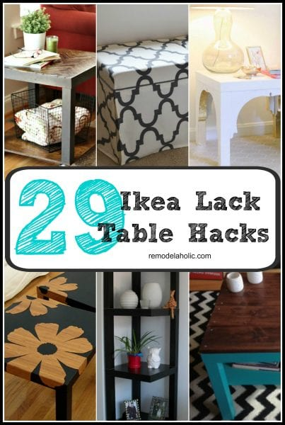 The Lack series from IKEA is beautifully simple, like a blank canvas, ready to be turned into a work of art! Be inspired by these 29 IKEA Lack table hacks.