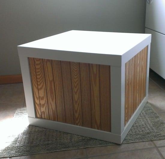 Remodelaholic From Bargain To Beautiful 29 Stylish Ikea Lack Table Hacks