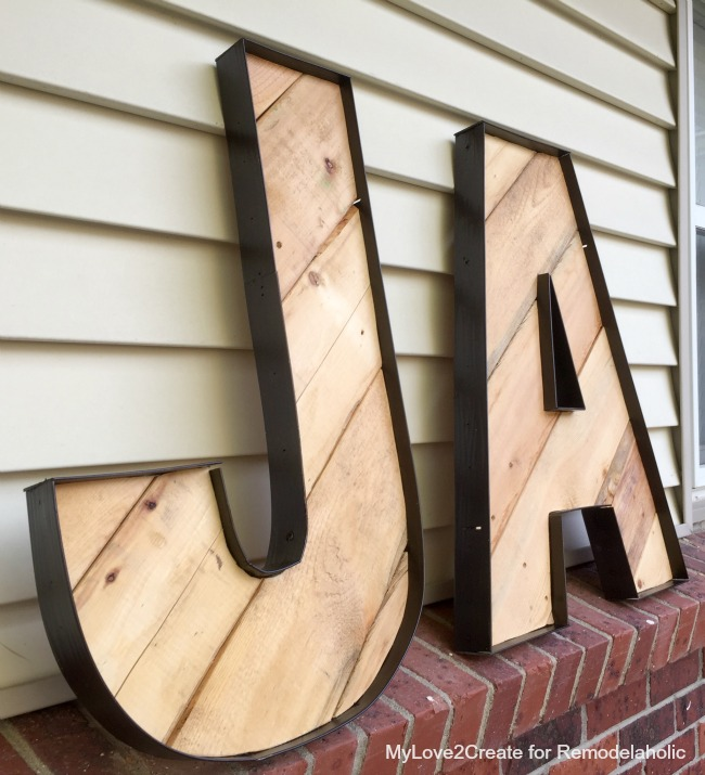Remodelaholic | Rustic Industrial Letters Made From Wood ...