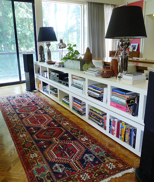 Low Bookcase Room Divider