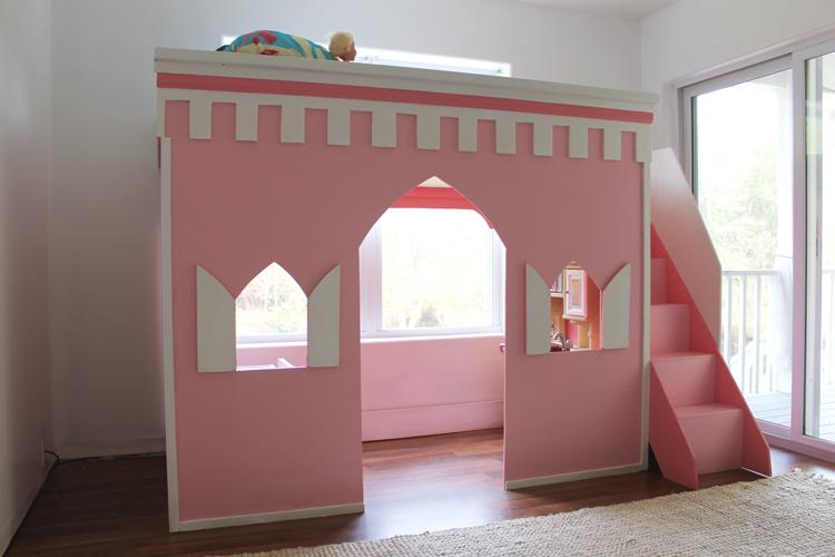 Princess Castle Loft Bed 19