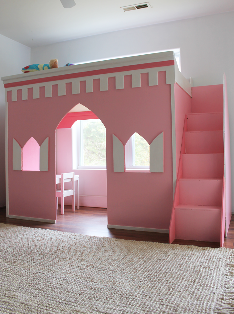 Remodelaholic | How to Build a Princess Castle Loft Bed
