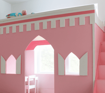 How to Build a Princess Castle Loft Bed