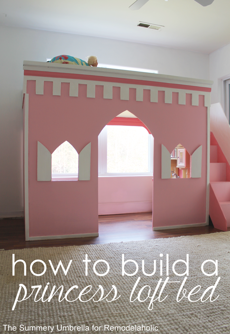 Remodelaholic how to build a princess castle loft bed for How to make a loft room