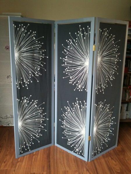 room divider wood fabric diy