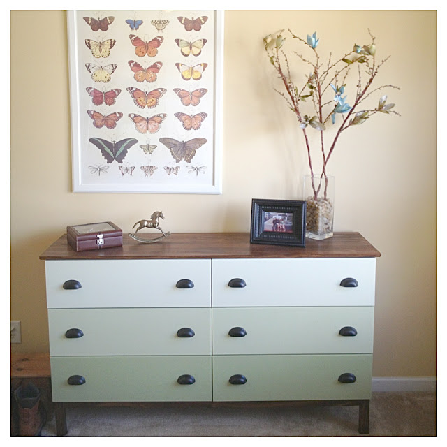 ikea hack tarva dresser. Tarva 6-drawer Chest Hack Ombre Green Drawers Ikea Dresser A