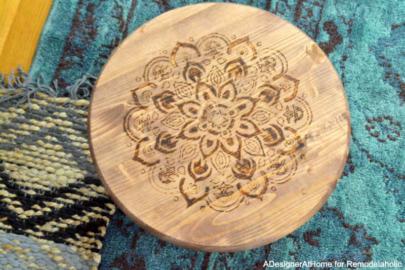 Remodelaholic Diy Stool With Wood Burned Design